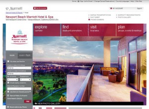 Marriott Hotel Website
