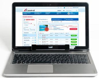 Blickverlaufanalyse auf einem Laptop