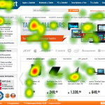 Eye Tracking Analyse einer Webseite