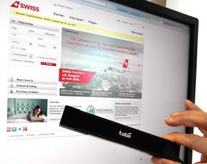 Swiss_Flugbuchung mit Augensteuerung