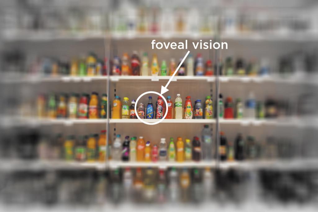 Unser Gesichtsfeld teilt sich in zwei Bereiche auf, den zentralen und den peripheren Sehbereich. Es umfasst alle Punkte und Objekte die bei geradeaus gerichtetem Blick visuell wahrgenommen werden können, auch ohne sie direkt zu fixieren.