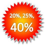 Bis zu 25 % Jubiläumsrabatt